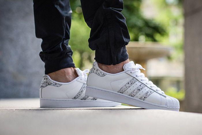 Adidas Superstar Speckled White Black 3