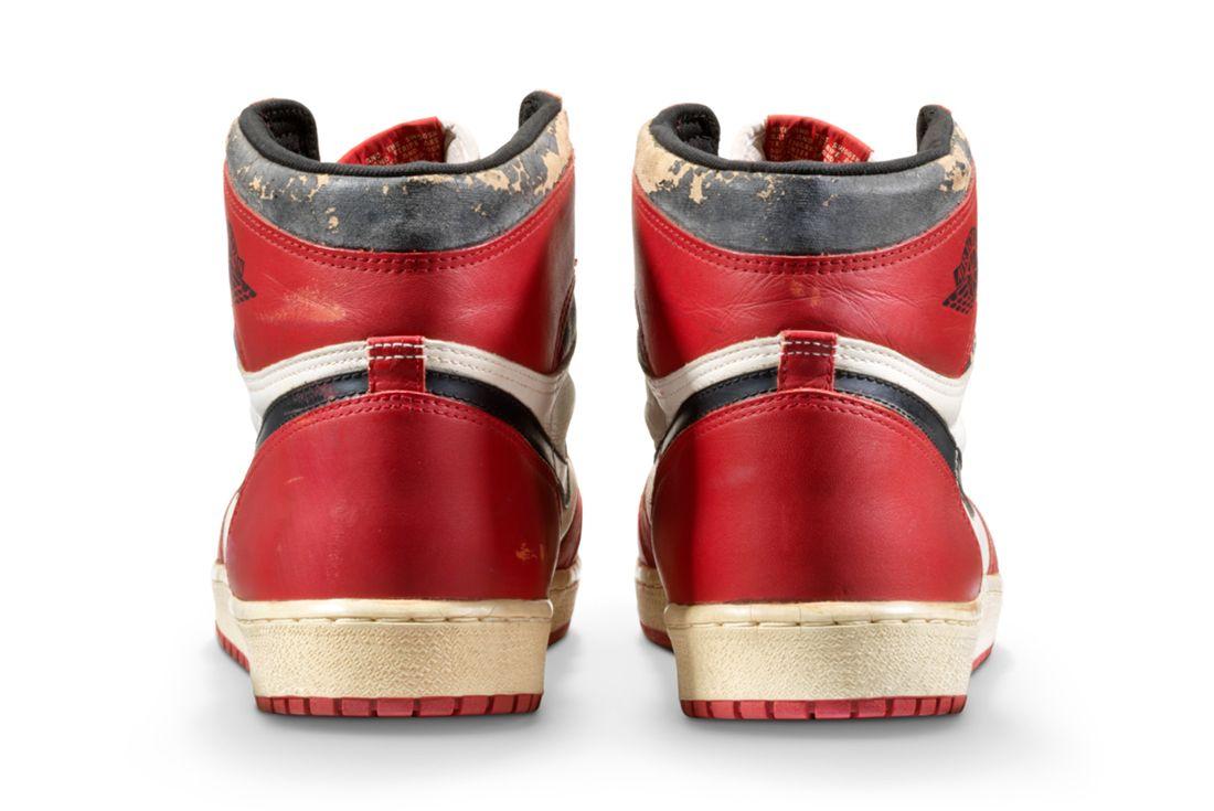 Air Jordan 1 'Shattered Backboard' Game-Worn and Signed Heel