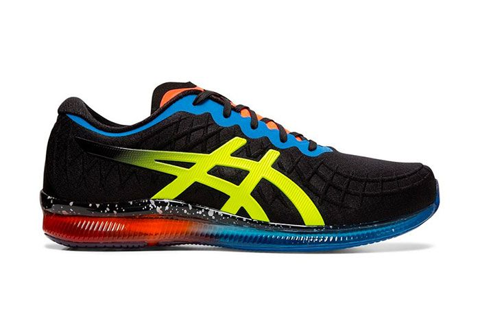 Asics Gel Quantum Infinity Red Blue Black Safety Yellow Right