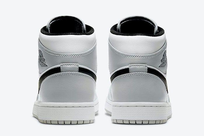 Air Jordan 1 Mid Light Smoke Grey 554724 092 Rear