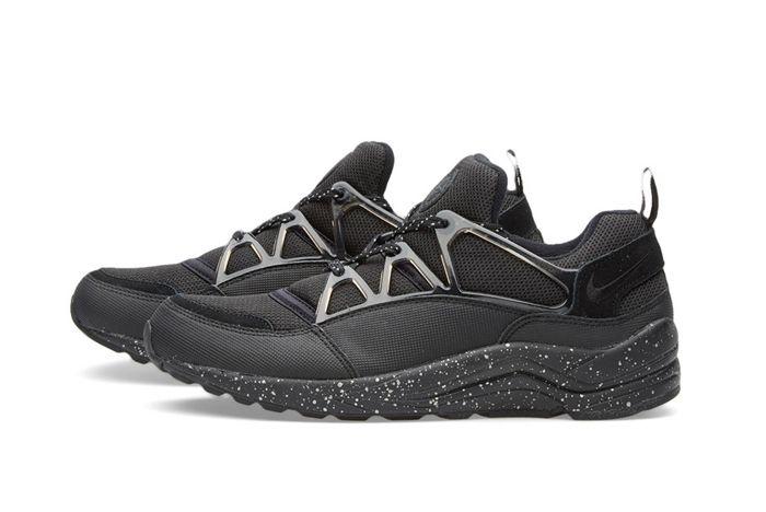 Nike Hua Light Black White End Bump 1