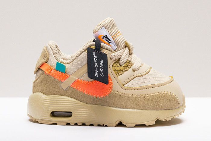 Nike Air Max 90 Off White Desert Ore Little Kids Toddlers 3