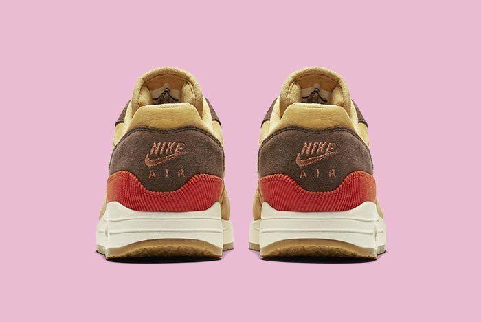 Nike Air Max 1 Corduroy Wheat Gold Rust Pink Baroque Brown 3