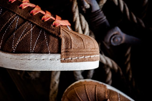 Union Los Angelos X Adidas Adi Super Star 80S Brown Suede Leather 7