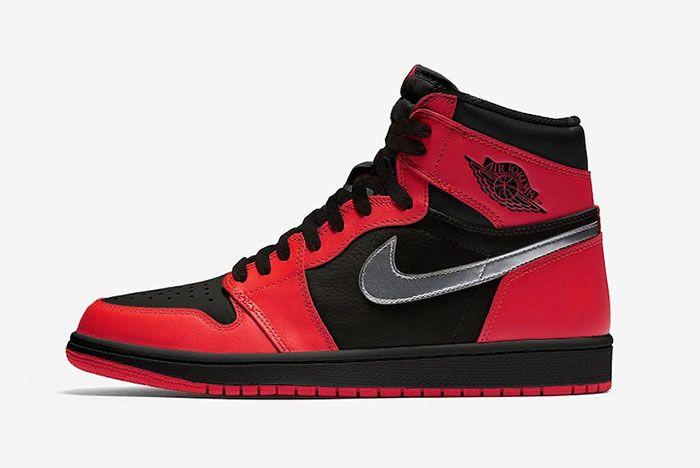 Air Jordan 1 Black Gym Red Metallic Silver 575088 060 Release Date Side