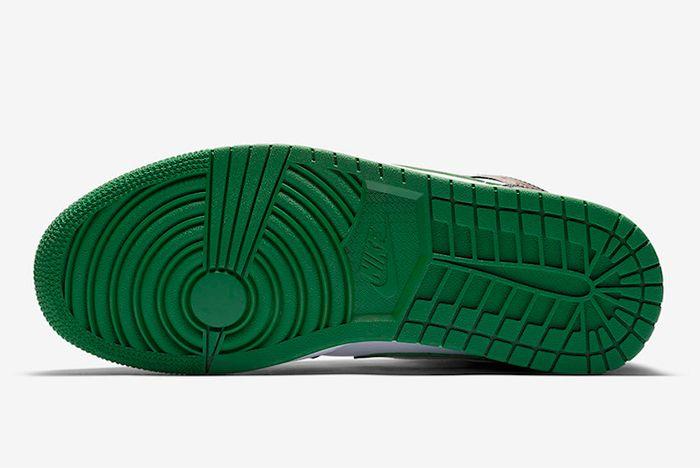 Air Jordan 1 Pine Green Toe Sole