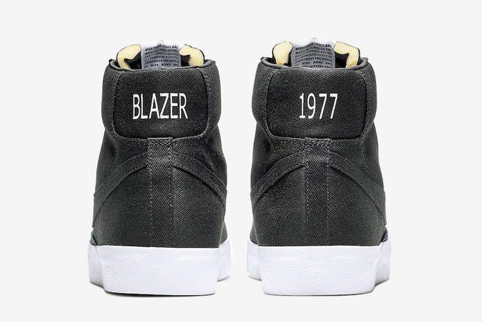 Nike Blazer Mid Canvas Pack Black Heels