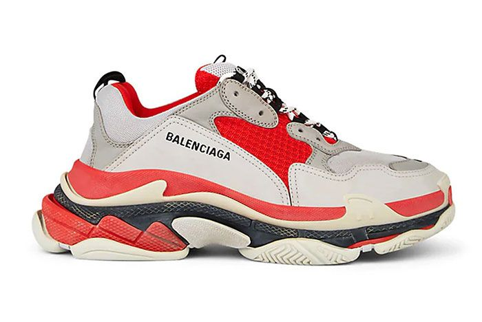 Balenciaga Triple S Red Off White Side