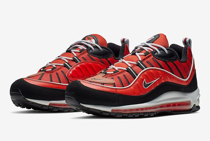 Nike Air Max 98 Red Black Quarter