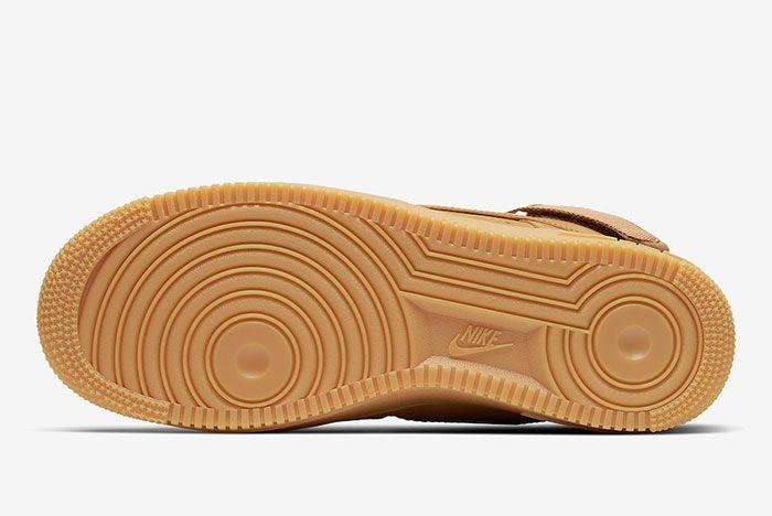 Nike Air Force 1 High Wheat Flax Cj9178 200 Sole
