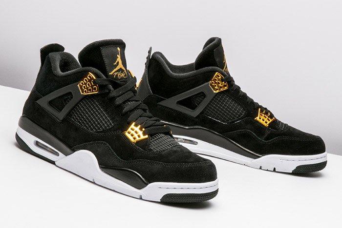 Air Jordan 4 Royalty Black Gold 5