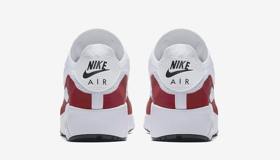 Nike Air Max 90 Ultra 2 0 Flyknit White Red 875943 102 6