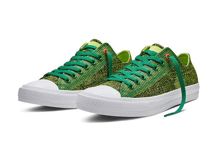 Converse Chuck Taylor All Star Low Open Knit Green 1