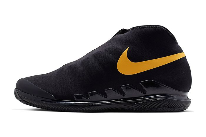 Nike Air Zoom Vapor X Glove Black Gold Aq0568 001 Release Date Lateral