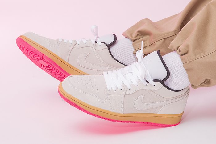 Air Jordan 1 Low Hype Pink 553558 119 Left Side Shot