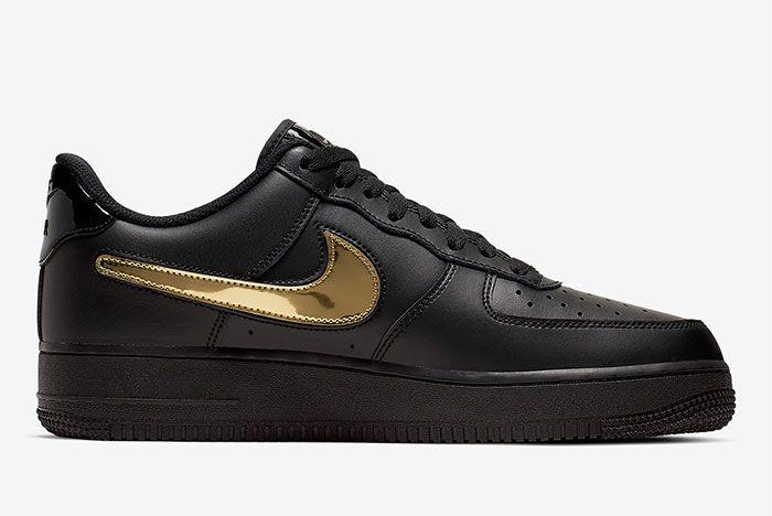 Nike Air Force 1 Removable Swoosh Pack Black Right