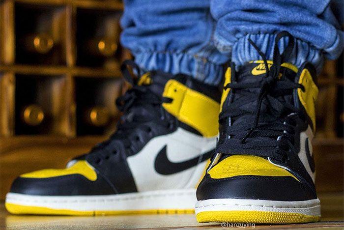 Air Jordan 1 Yellow Toe Close Left