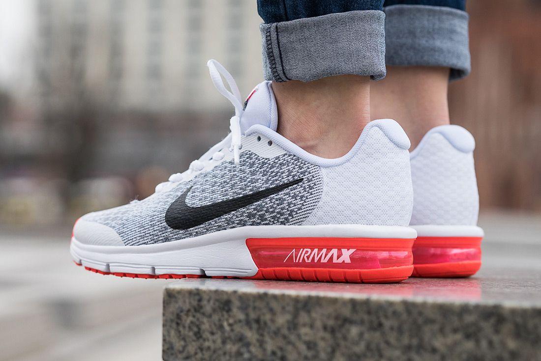 Nike Air Max Sequent 2 Gs White Bright Crimson4
