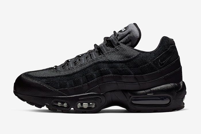 Nike Air Max 95 Essential Triple Black At9865 001 Release Date Side
