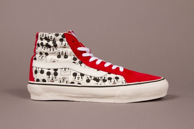 Vault By Vans X Disney Og Sk8 Hi Lx Mickey Square Classic White Fall 2013 1