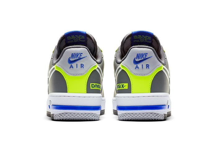 Nike Air Force 1 React Grey Heel