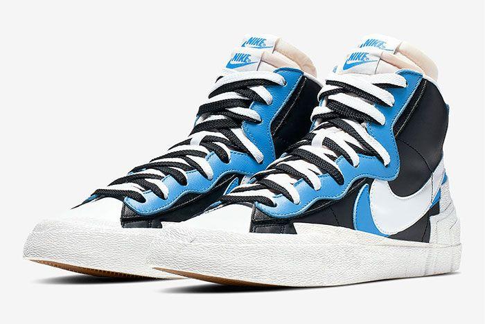 Sacai Nike Blazer Wafle Front Angle Shot 1