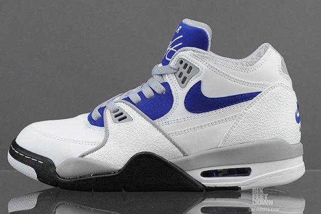 Nike Air Flight 89 White Hyper Blue Profile 1