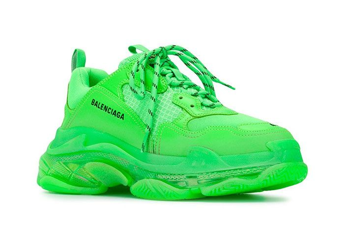 Balenciaga Triple S Green Side Angle