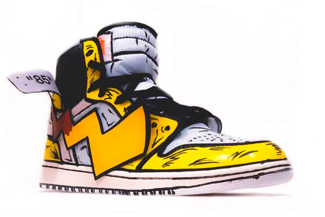 Air Jordan 1 Off White Detective Pikachu Right