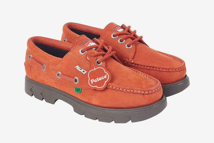 Kickers Palace Boat Shoe Red Front Side
