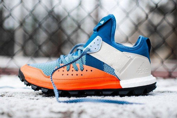 Adidas Response Trail Boost Core Blue Energy Orange 1