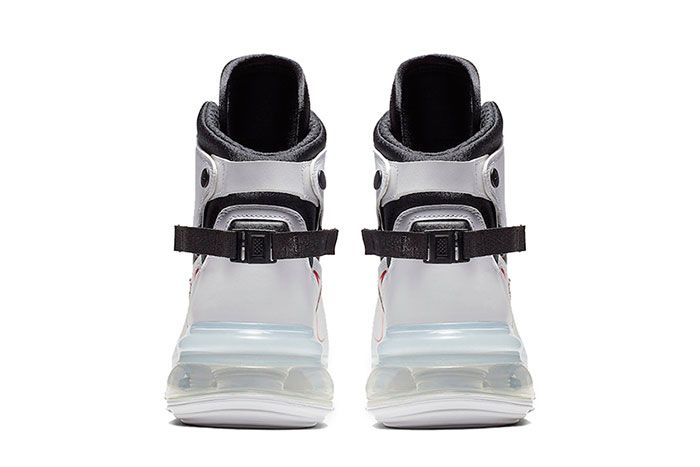 Nike Air Max 720 Saturn White Black University Red Heel