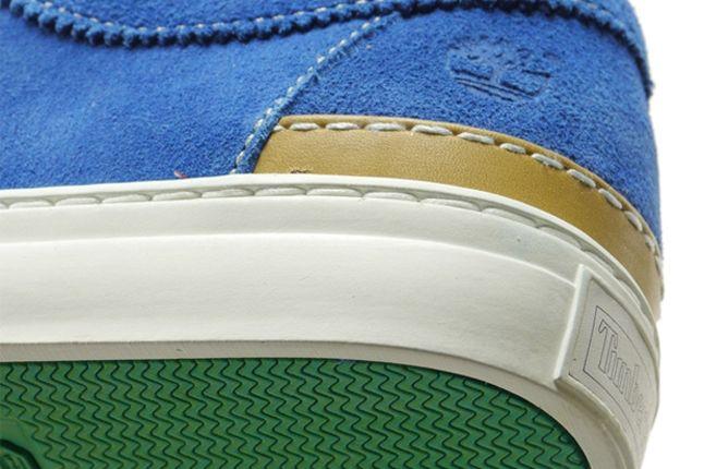 Stussy Timberland Moc Toe Blue Heel Detail 1