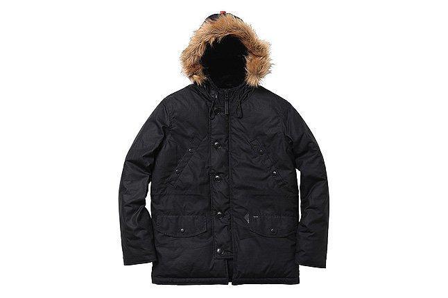 Waxed Cotton Wool Hood Jacket 1