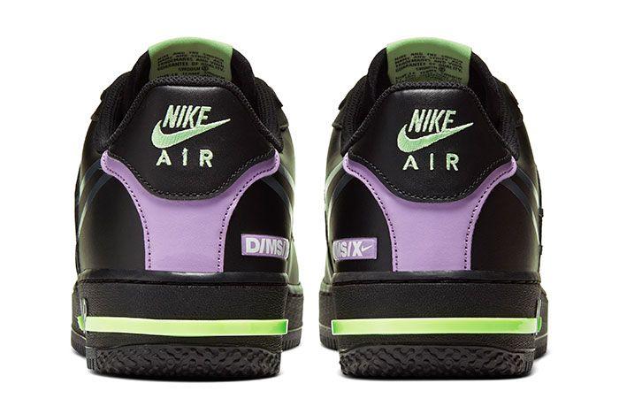Nike Air Force 1 React Black Heel