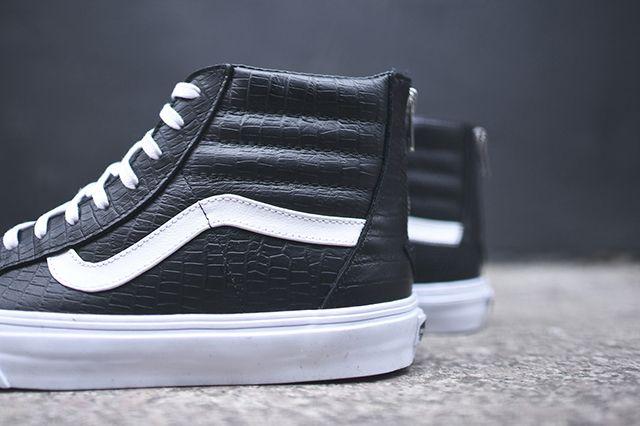 Vans Sk8 Hi Zip Ca Black Croc 5