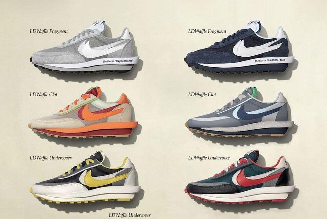 sacai Nike LDWaffle Fragment Clot UNDERCOVER