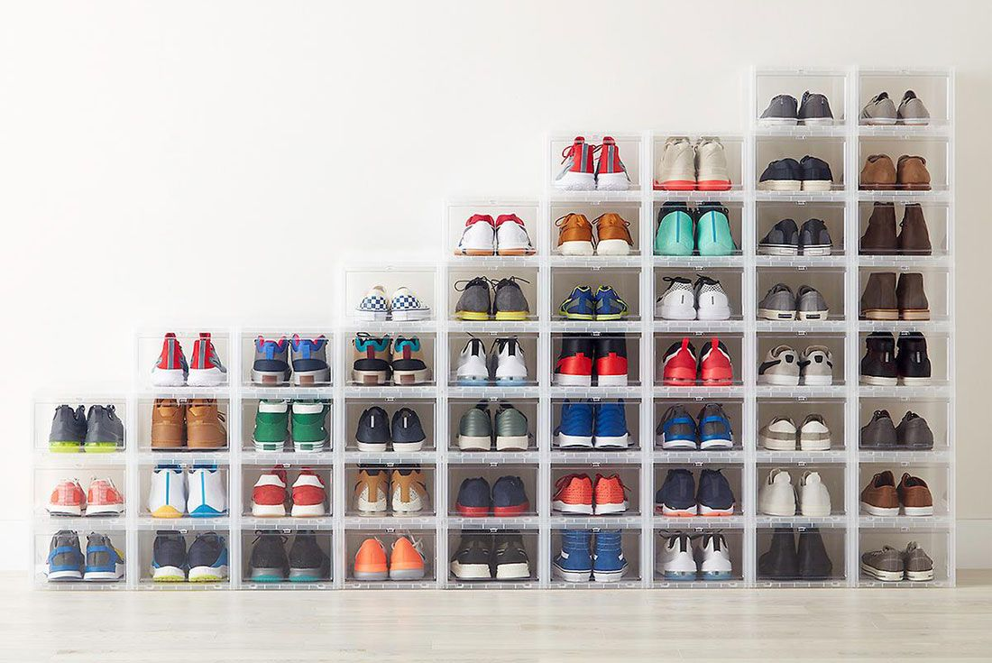 The Container Store Drop Front Shoe Cases