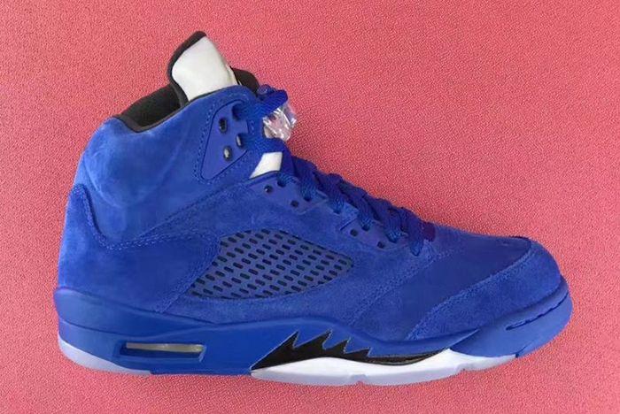 Air Jordan 5 Blue Suede10