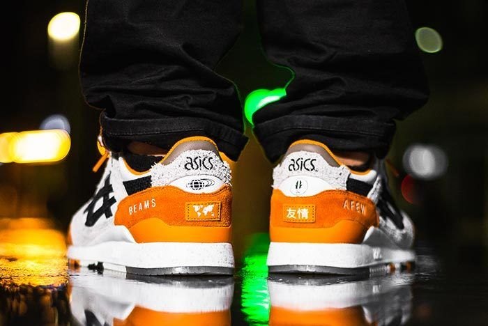 Afew X Beams X Asicstiger Orange Koi On Feet 02