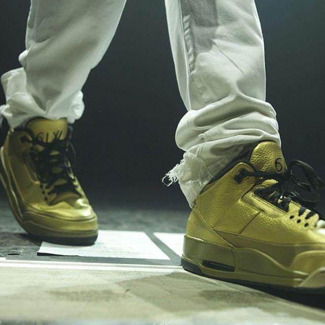 Drake Air Jordan 3 Gold 2