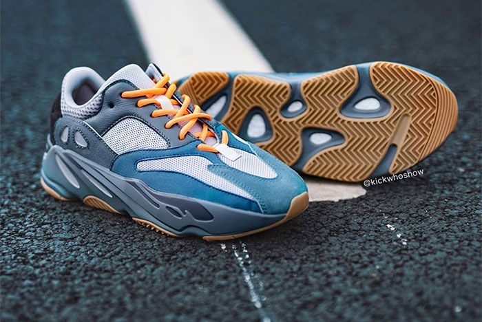 Adidas Yeezy Boost 700 Teal Blue On Foot Sole