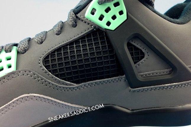 Air Jordan 4 Green Glow Detail 1