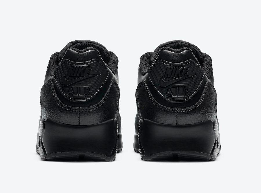 Nike Air Max 90 Triple Black Heel