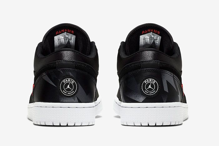 Air Jordan 1 Low Psg Ck0687 001 Heels