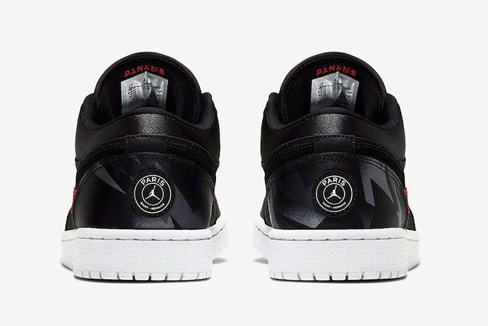 Air Jordan 1 Low Psg Ck0687 001 Heels
