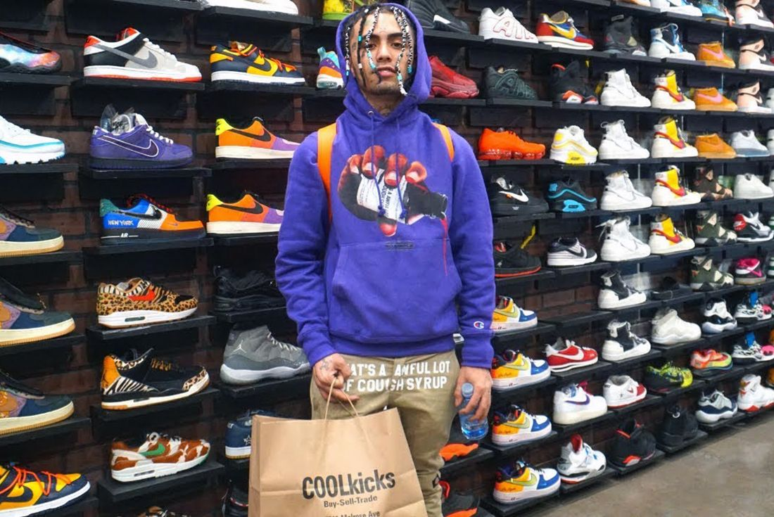 cool kicks sneaker freaker lil pump sneaker shopping