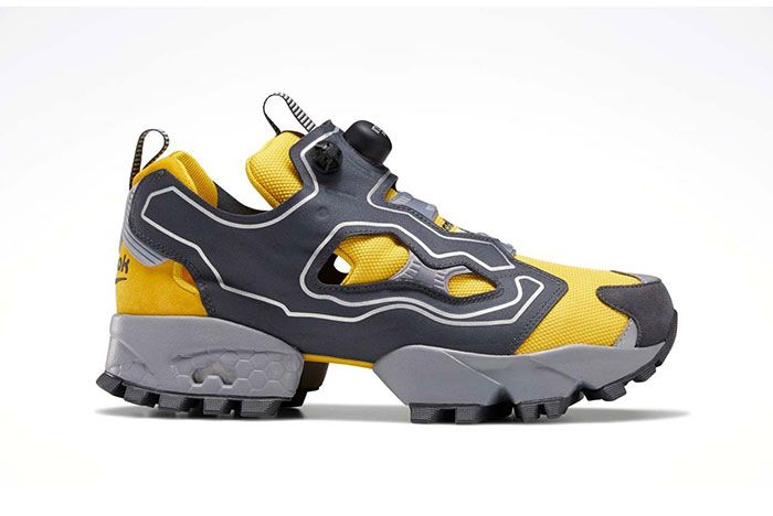 Reebok Instapump Fury Trail Shroud Yellow Lateral