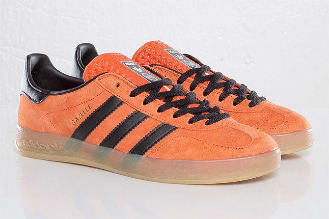 Orange Adidas Gazelle Indoor Quarter 1