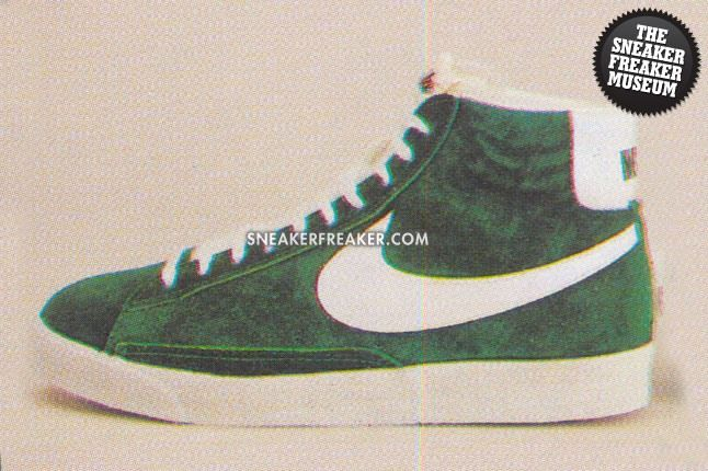 Blazer Hi Top Suede Greenwhite 4130 1Large 1